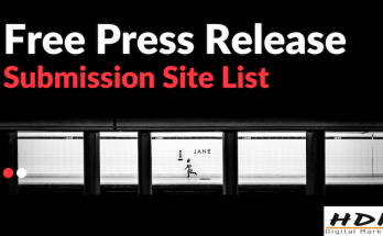 Dofollow Free Press Release submission site list