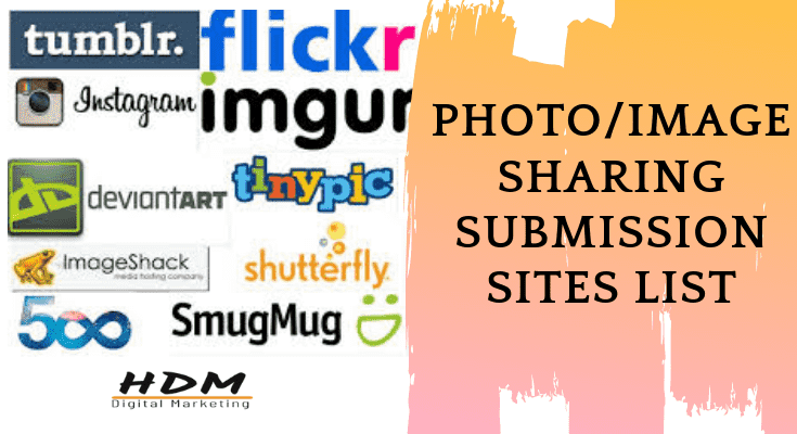 free Photo Image Sharing Submission site list
