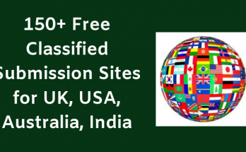150+ Free Classified Submission Sites for UK, USA, Australia, India