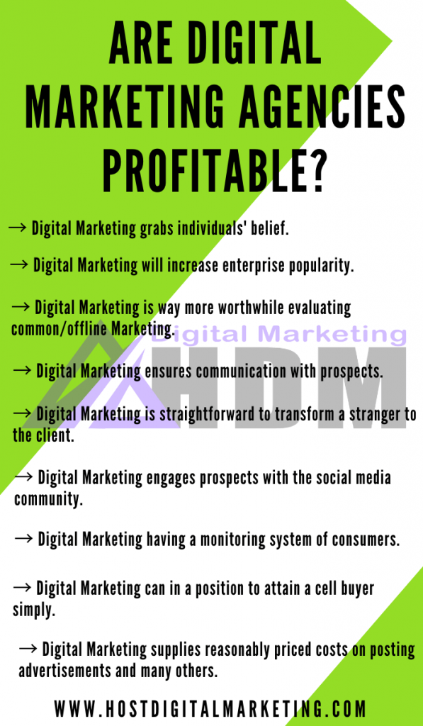 Infographics image on Are Digital Marketing Agencies Profitable