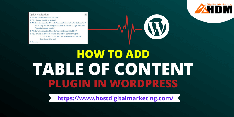 How to Add Table of Content Plugin in WordPress