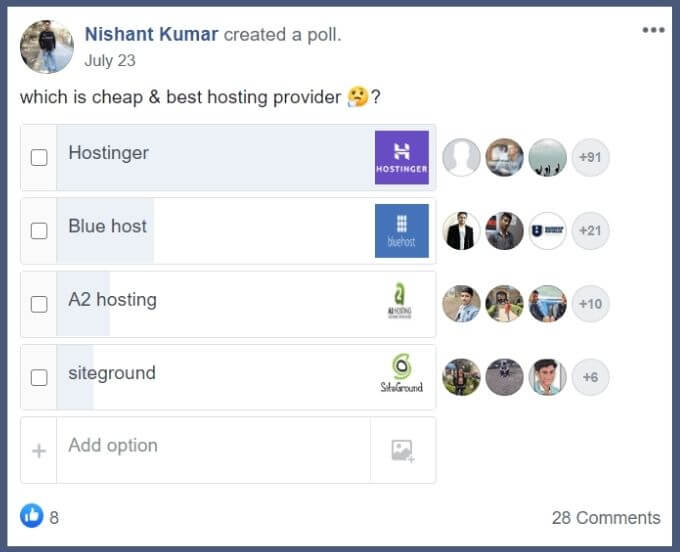 screenshot which is the cheap & best hosting provider