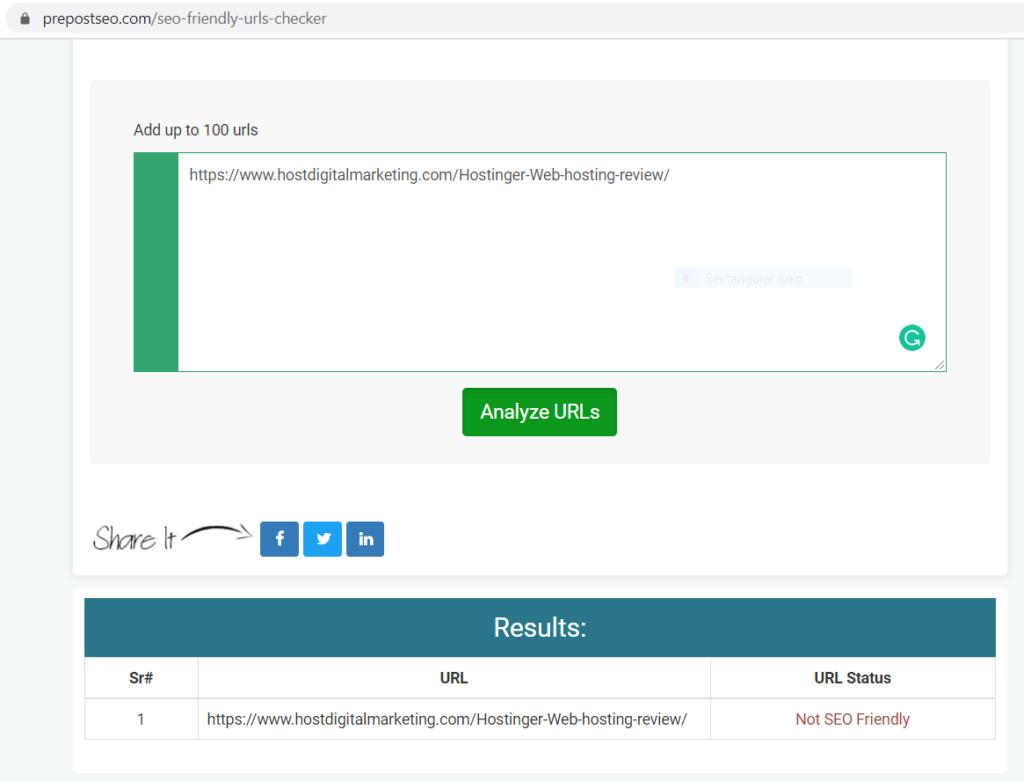 SEO friendly URL - Pre Post SEO Tool Overview 2