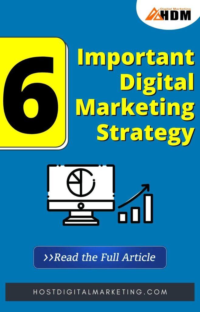 Important Digital Marketing Strategy