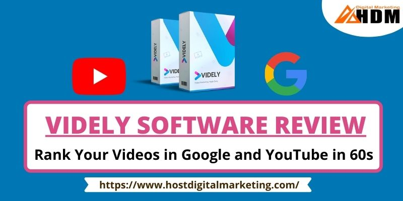 Videly Software Review rank your video on google and youtube