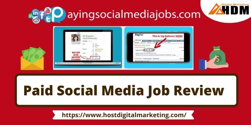 paid social media jobs review