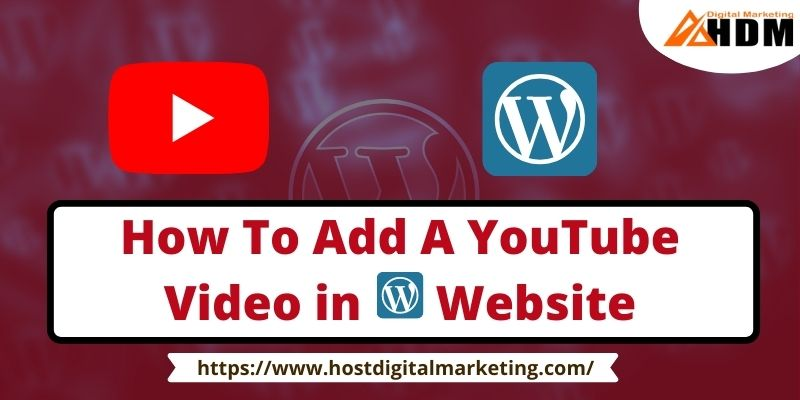 How To Add A YouTube Video in Website