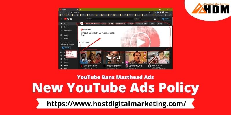 YouTube Bans Masthead Ads - Youtube new ads policy