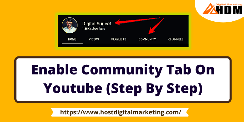 How To Enable Community Tab On Youtube